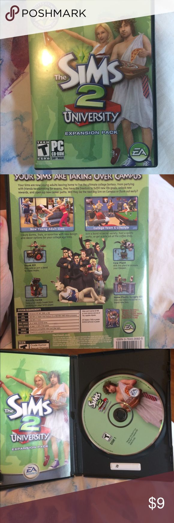 The Sims 2 University Expansion Pack In good condition Other