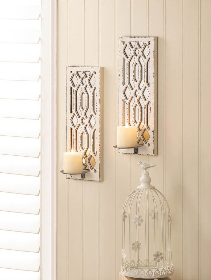 Deco Mirror Wall Candle Sconce Set Sconces Pinterest