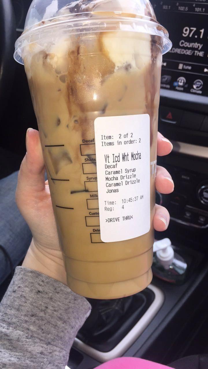 #starbuckshacks #starbucks #icewhitechocolatemocha #yourewelcome #repin    – Starbucks coffee drinks