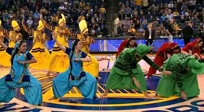Sacramento: An Indian-American bhangra dancing group took to stage during the halftime show in a NBA game between the Golden State Warriors and the Memphis Grizzlies on Sunday night. The lively dance performance amidst the professional basketball game saw 32 dancers – 16 women and 16 men...