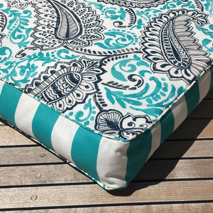 Aqua Floral Indoor/outdoor polyester fabric - cool and easy care ideal for the Australian summer