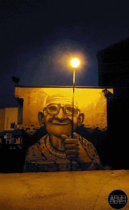 Gifs animados que dão vida a ilustrações, fotos e arte de rua.