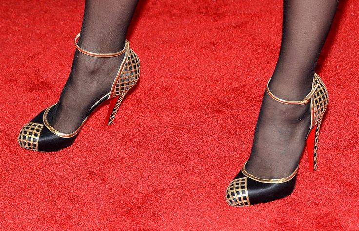 Model and television personality Holly Madison (shoes detail) arrives at the sixth annual Fighters Only World Mixed Martial Arts Awards at The Palazzo Las Vegas on February 7, 2014 in Las Vegas, Nevada.