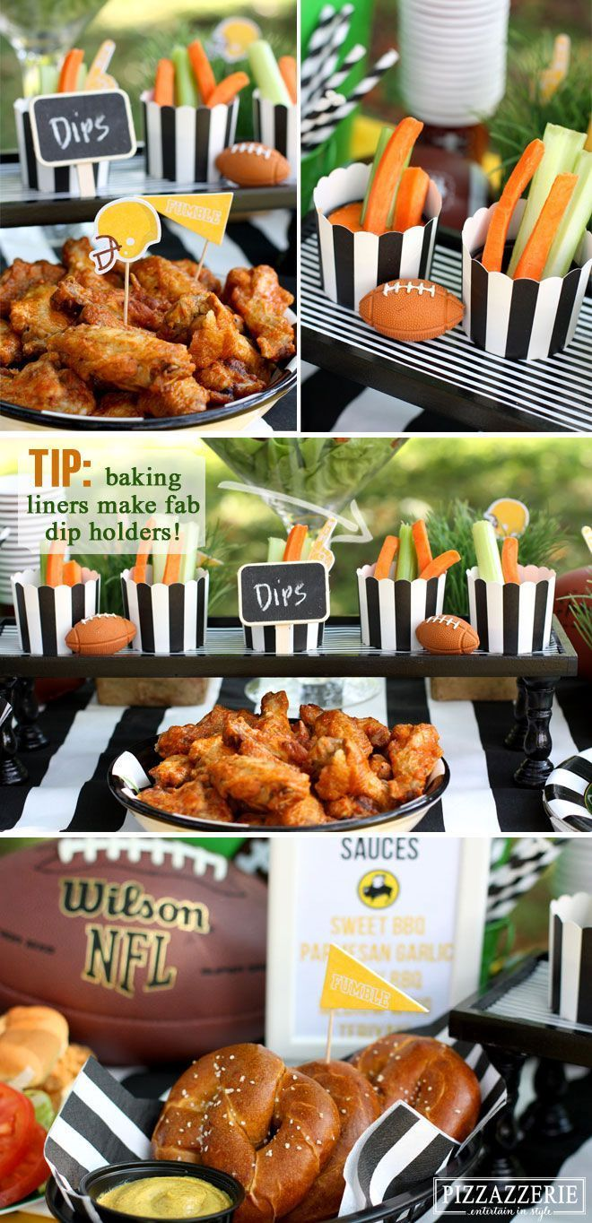 Lots of cute tailgate and football party treats from food to decorations!