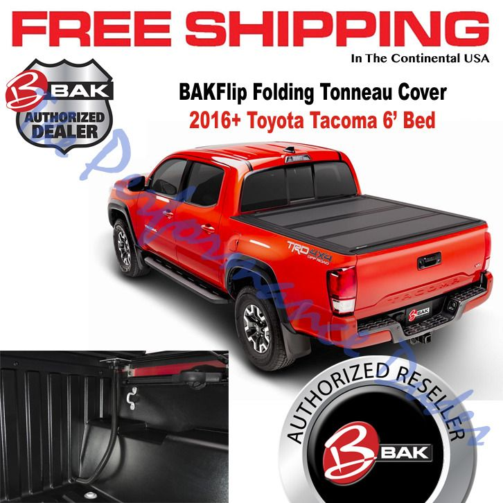 Bakflip Mx4 Hard Folding Bed Cover Fits 2016 2019 Toyota Tacoma 6 Bak 448427 Toyota Tacoma Truck Bed Covers Tacoma