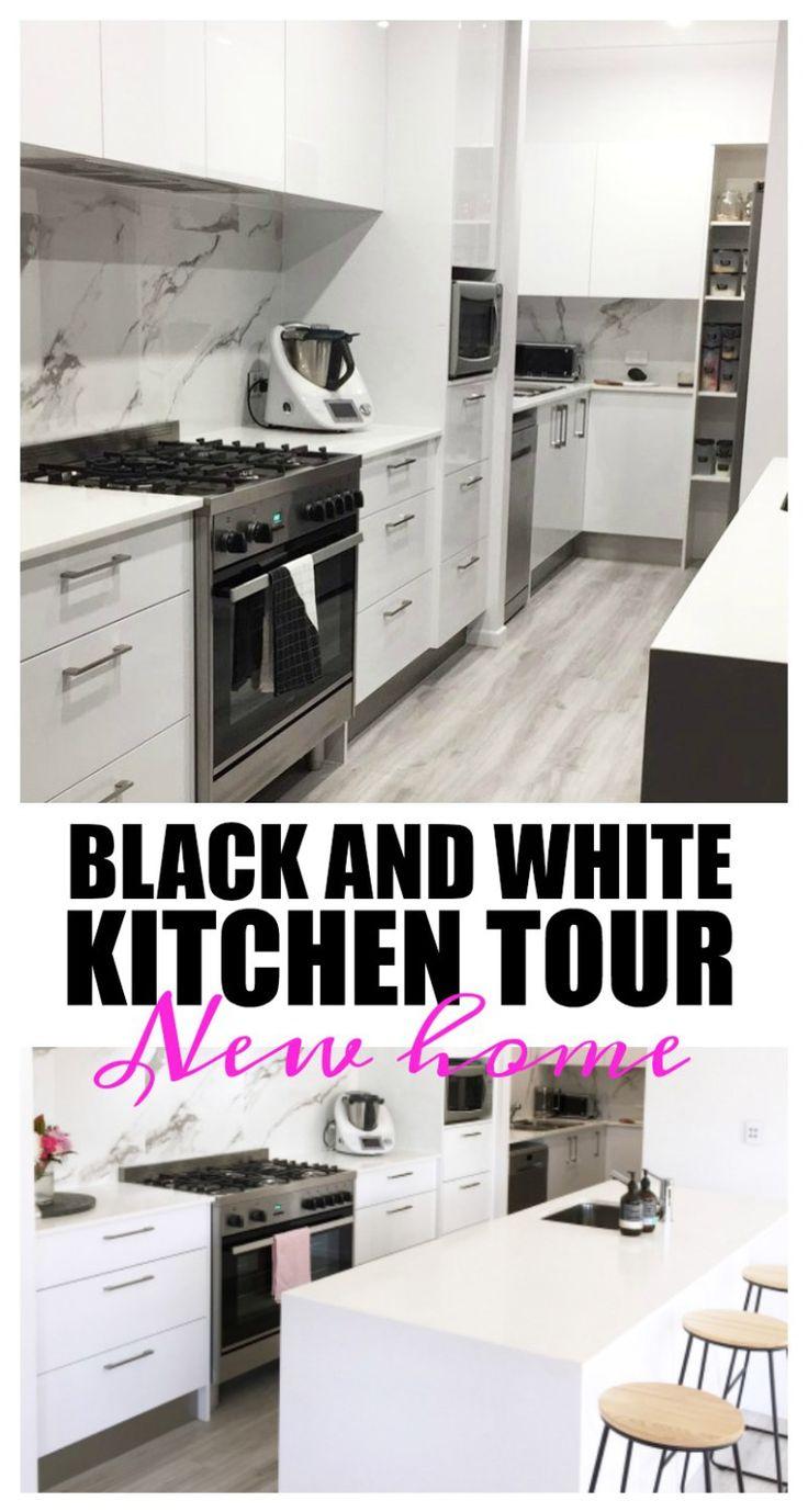 New kitchen tour! || Black and white minimalistic kitchen