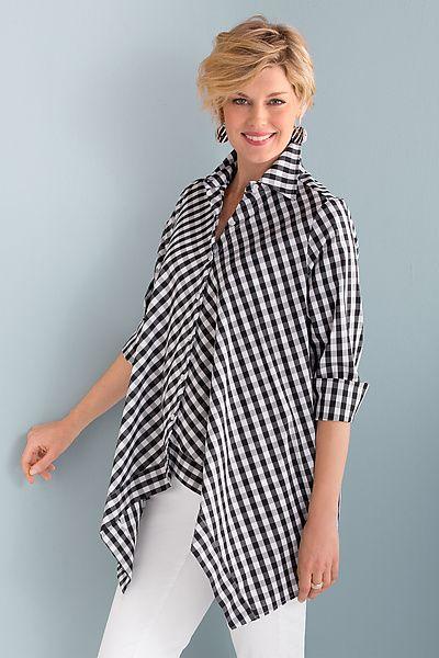 Taschentuch-Karohemd von Comfy USA: Gewebtes Hemd erhältlich bei www.artfulhome …   – Appearance
