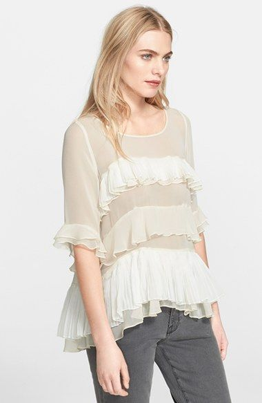 Rebecca+Taylor+'Mosaic'+Fil+Coupe+Top+available+at+#Nordstrom