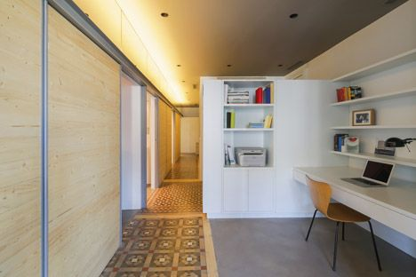 The Wall apartment in Barcelona by Nook Architects