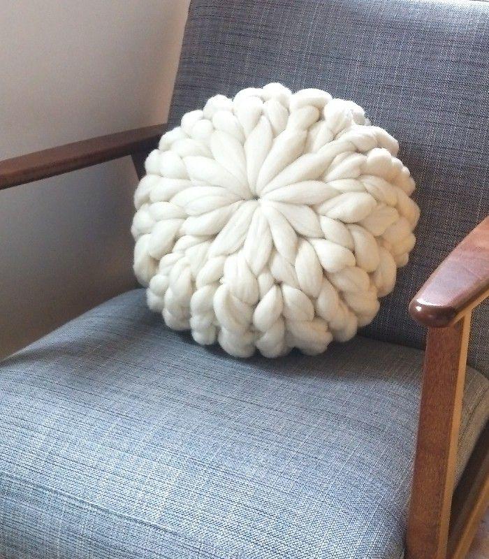 Round hedgehog cushion