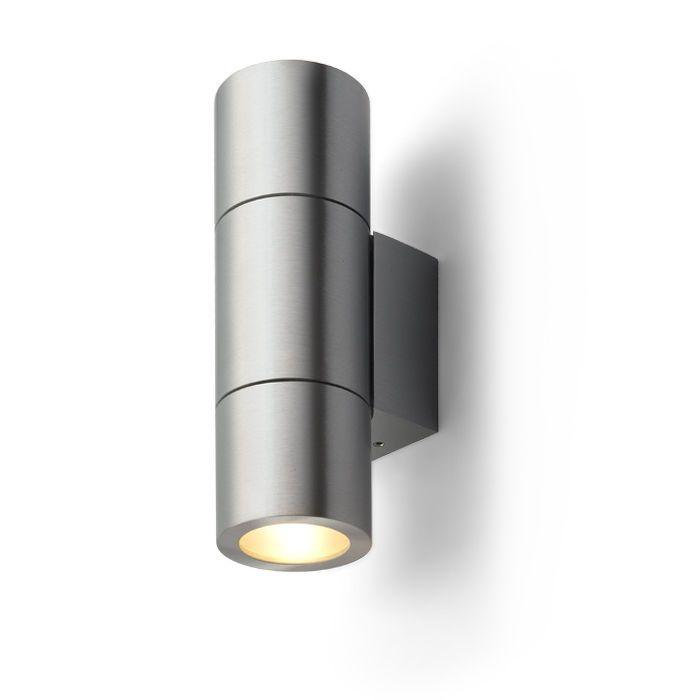 MICO II | rendl lighting | Bidirectional fixture in brushed aluminum for G9 light sources. #light #bathroom #aluminum #wall #minimal