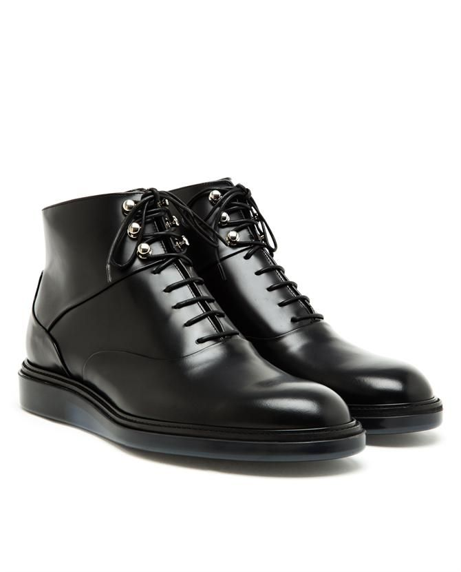 DIOR HOMME Polished Leather Ankle Boots