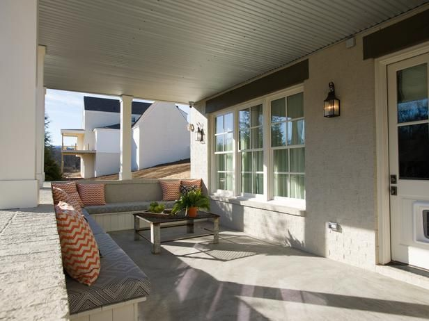 A covered porch gives homeowners the opportunity to enjoy the outdoors, rain or shine.Decor, Ideas, Smart Home, Hgtv Smart, House, Covers Porches, Outdoor Spaces, Front Porches, Covered Porches