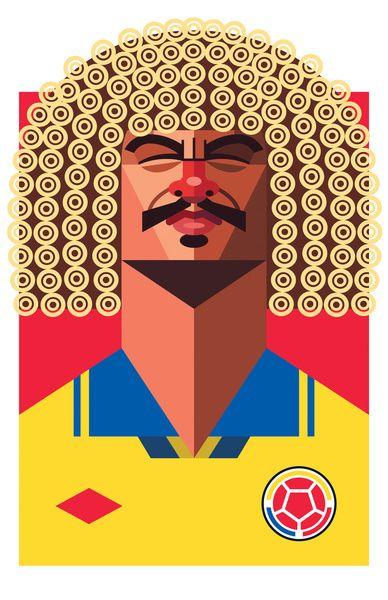 #Futbol Carlos #ElPibeValderrama by Daniel Nyari