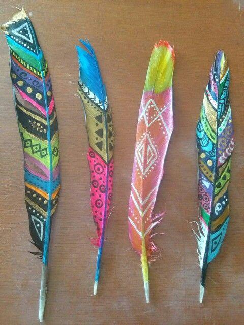 Plumas decoradas :)