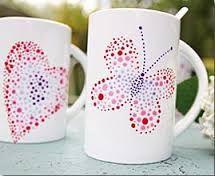 Resultado de imagen de decorar tazas ceramica