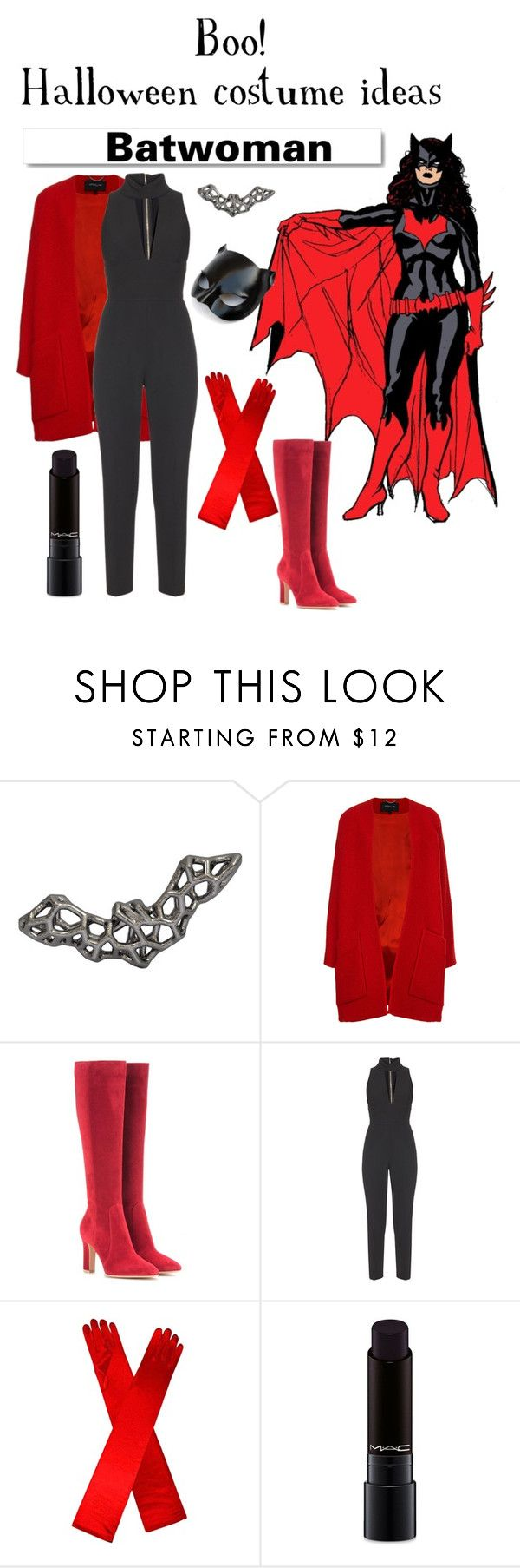 """""""Batwoman halloween costume idea"""" by rannerliling ❤ liked on Polyvore featuring Derek Lam, White Label, Gianvito Rossi, Elie Saab, Masquerade and MAC Cosmetics"""