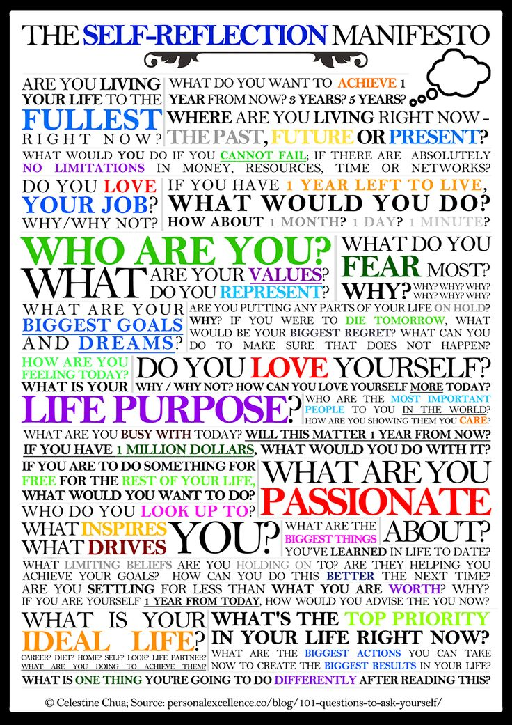 The Self-Reflection Manifesto ~ great to use for journaling prompts for you or loved ones!!