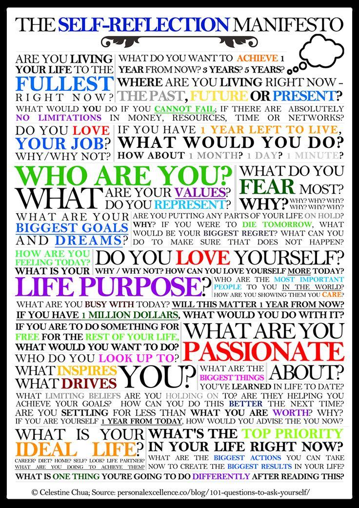 The Self-Reflection Manifesto