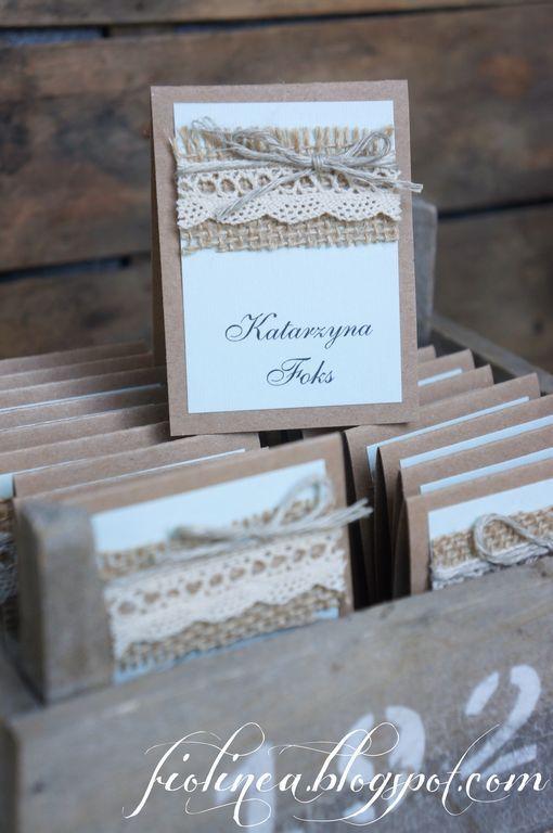 Fiolinea - Ślubna Galanteria Papiernicza: Rustykalna mięta na weselu Kasi i Łukasza