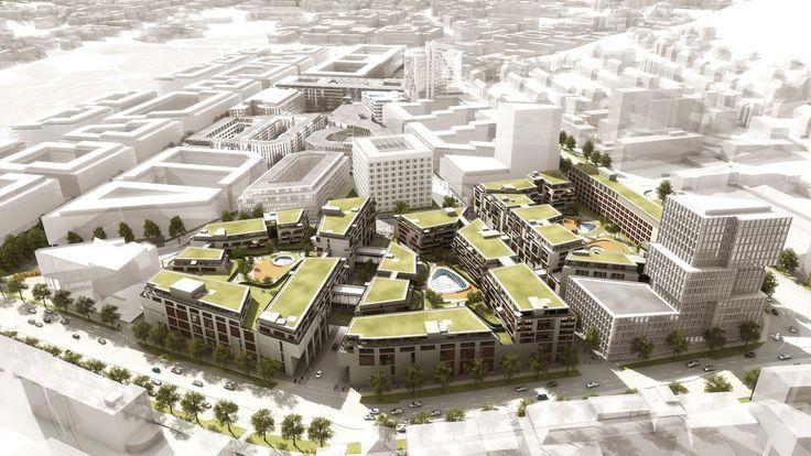 Milaneo/Quartier am Mailänder Platz, location: Stuttgart/GER - Hybrid complex/Warehouses, Storage buildings/Housing \Architects: RKW Rhode Kellermann Wawrowsky Architektur + Städtebau