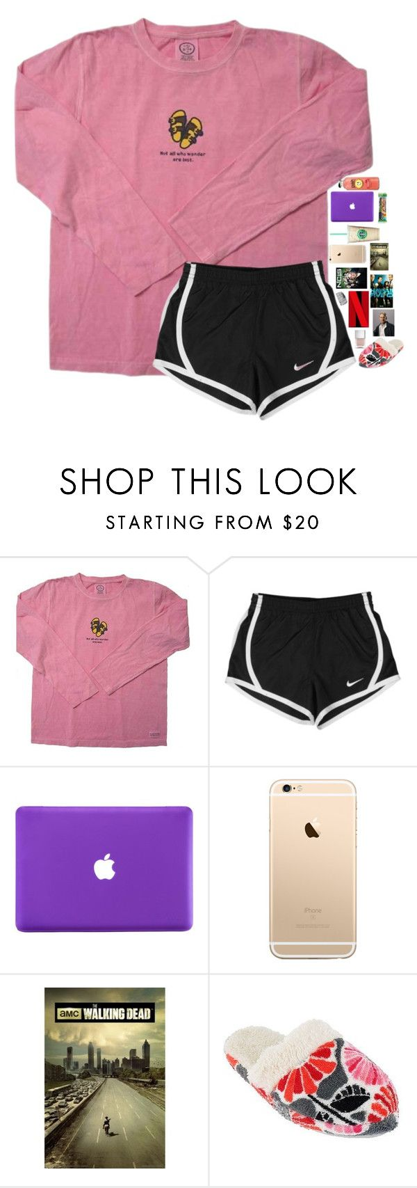 """""""Netflix and Chill contest entry"""" by breezerw ❤ liked on Polyvore featuring NIKE, Vera Bradley and Nails Inc."""