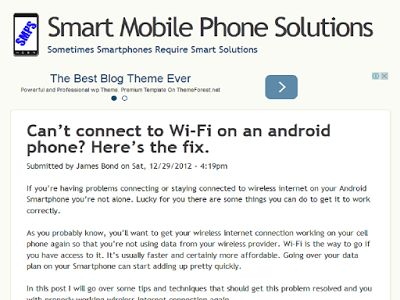 How to fix or solve Android Smartphone that cannot connect to WiFi Network
