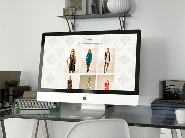 Web design for Christchurch fashion label Bouton Rouge