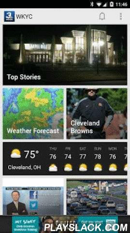 WKYC  Android App - playslack.com ,  The WKYC app allows you to stay up-to-date with local and breaking news, as well as real-time weather and traffic conditions in the Cleveland, OH area.App Features & Highlights:LIVE STREAMINGYou can now watch LIVE STREAMING broadcasts in the app! You can even choose to set up reminders for Broadcast times in the News Schedule section.WEATHERSee current weather conditions, hourly and extended forecasts, a full radar map and weather-related health…