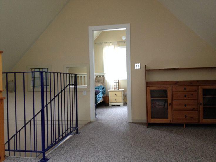 Loft area, looking toward bedroom.