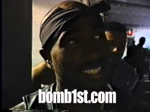 2Pac States meaning of his MOB tattoo - YouTube
