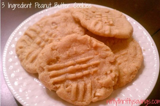 3 Ingredient Peanut Butter Cookies - Super Easy & Cheap