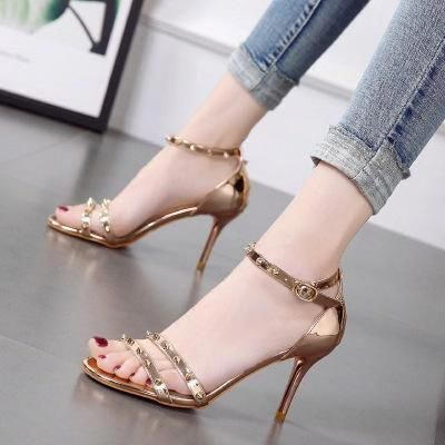 55948235be4 2019的Prettymia Open Toe Buckle High Heels Sandals  Highheels ...