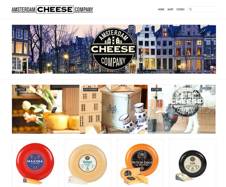online shop | ecommerce | design | cheese | amsterdam | http://www.amsterdamcheesecompany.com/en/