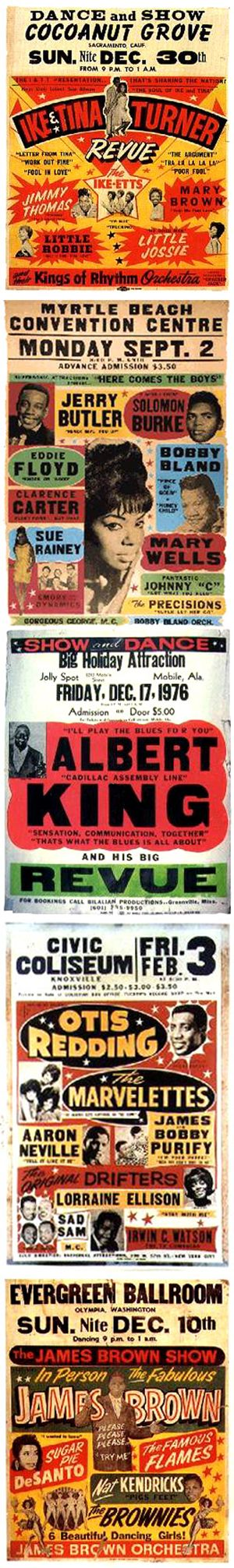 Classic 1960s Soul Concert Posters