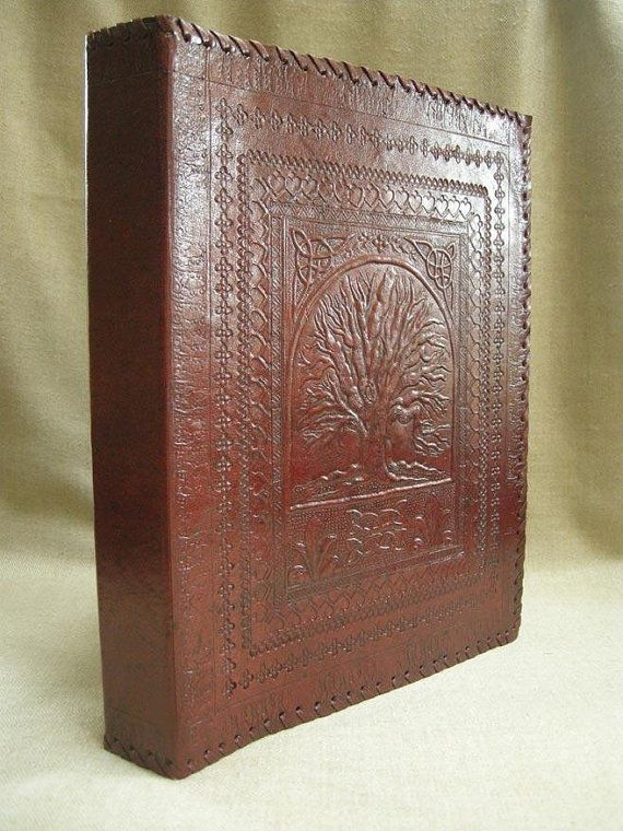 A4 Ring Binder Hand-Tooled Leather Tree of Life by DiaryShop