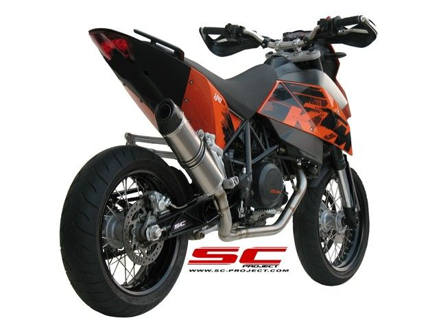 SC-Project Shop KTM - 690 SM 07-11 - Full system 1-1 with Oval - line silencer