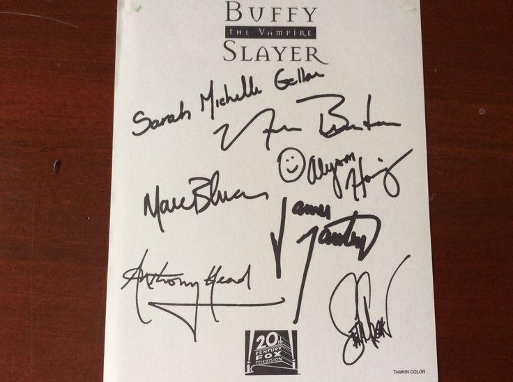 Printed autographs Buffy the vampire slayer