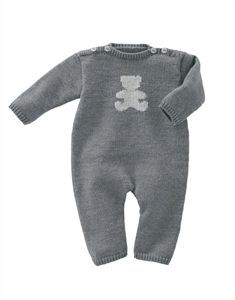 Babies Knitting Patterns Sleep Suit Pattern