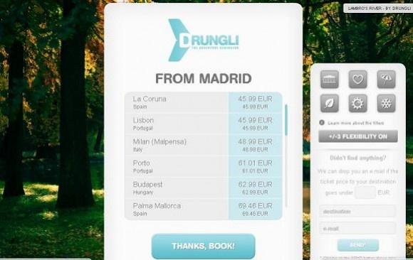 Buscador de vuelos baratos sin destino drungli.com - el Macuto Viajero