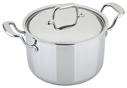 """Dubbed """"the Rolls Royce of stockpots"""" by chef Altman, this pot is as beautiful as it is wonderful to cook with. Its combination of copper, a..."""