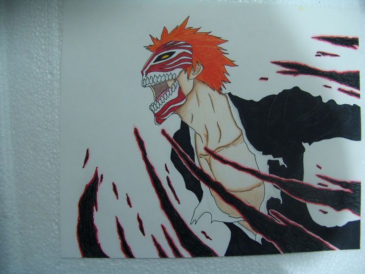 Ichigo Hollow Mask - Markers Colored Pencil