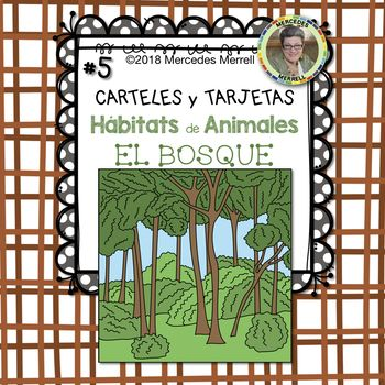 This is set #5 of a Growing Bundle: ANIMAL HABITATS Posters and Cards for the FARM OCEAN DESERT MOUNTAIN FOREST SAVANNA RAINFOREST and POLAR REGIONS in SPANISH titled: ¡Paquetón! CARTELES y TARJETAS Hábitats de Animales en la GRANJA SABANA