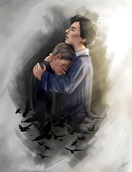 Johnlock by miloutjexdrawing