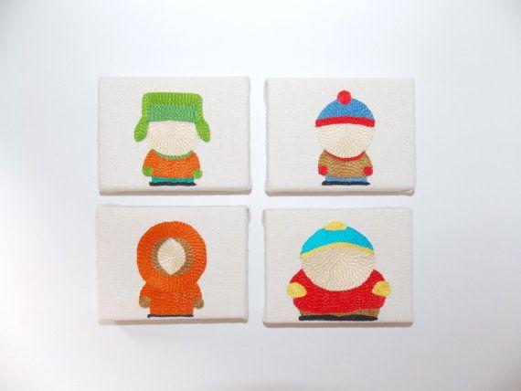 SOUTH PARK  Stan Kyle Cartman Kenny silhouettes par 221Broderie