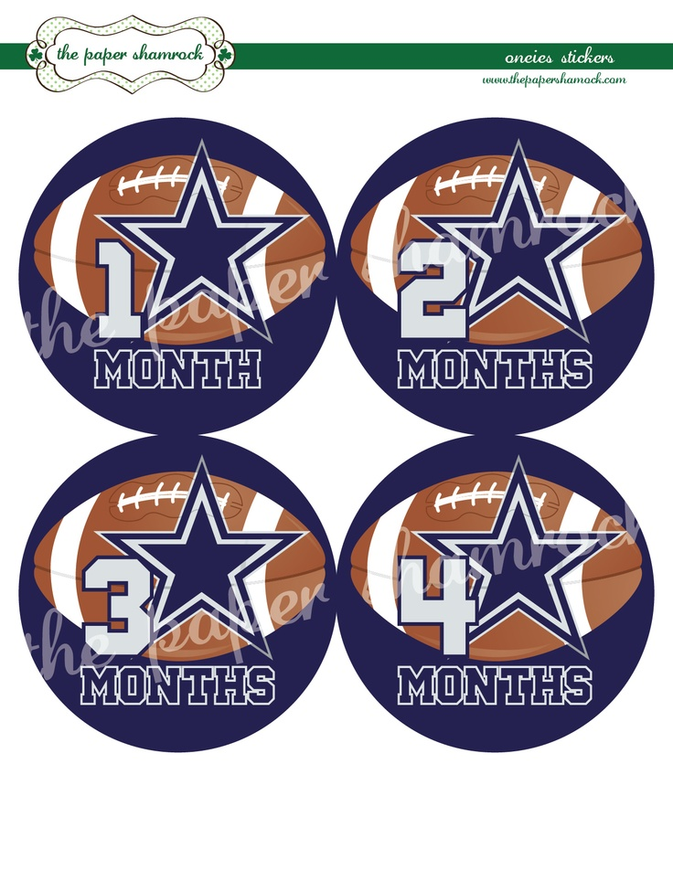 Dallas Cowboys Onesie Stickers