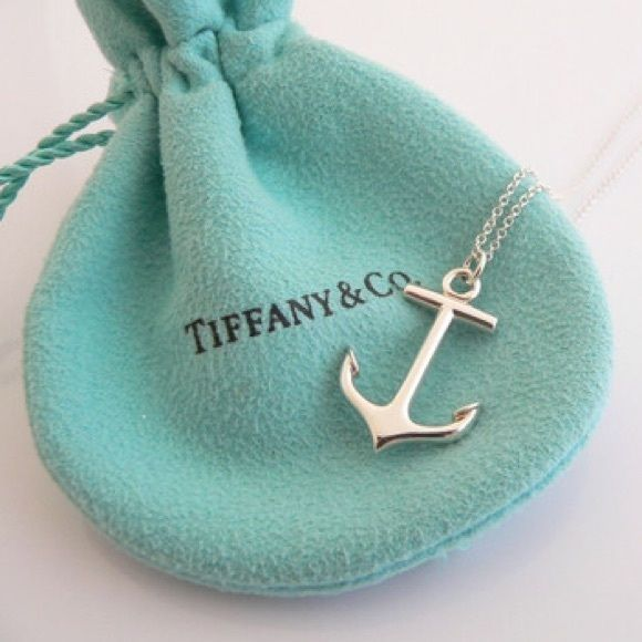 Sterling silver Tiffany & Co. anchor necklace. Like new! Will send with Tiffany & Co. dust bag and paper bag.