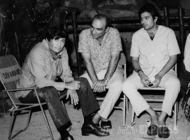 Dev Anand, Yash Chopra and Rajesh Khanna.