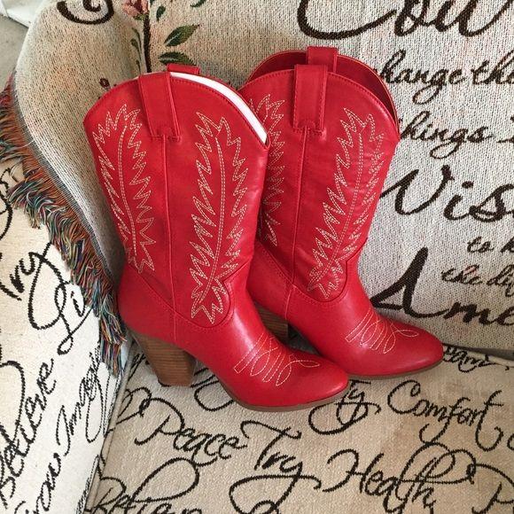 Red Miranda Lambert Cowboy Boots Brand new. Miranda Lambert Red Cowboy Boots. Hard to find.. Super hot! Still in the box. Miranda Shoes