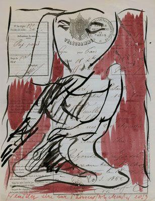 Pierre Alechinsky (1927)  wordt op 19 oktober 1927 te Brussel geboren als zoon van een Joodse arts die uit Rusland vluchtte en een Waalse moeder. Tijdens zijn schooljaren werd hij onderwezen volgens de Decroly methode, waarbij hij voor het eerst de principes van de drukkunst leerde kennen.